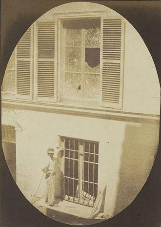 Hippolyte Bayard - Construction Worker in Paris, salt print (circa 1846)