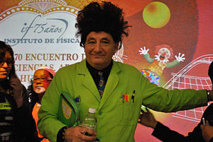 Beakman's World - Paul Zaloom costumed as Beakman in UNAM, 2014.