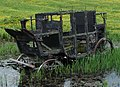 Beamish Museum burnt out Stagecoach, 5 June 2010 (cropped).jpg