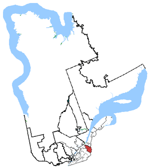 Beauce (electoral district) - Beauce in relation to other Quebec federal electoral districts