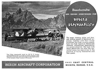 "Beechcraft - Advertisement for Model 17 ""Staggerwing"" 1937"