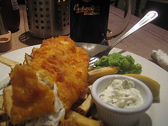 Batter (cooking) - Fish and chips prepared with beer batter