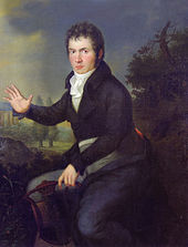 Beethoven, 1804/5. Dieses Porträt von Joseph Willibrord Mähler war bis zu seinem Tod in Beethovens Besitz.[32] (Quelle: Wikimedia)