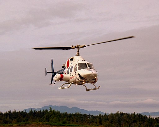 Bell 222 approaching ramp in Prince Rupert (175124135)