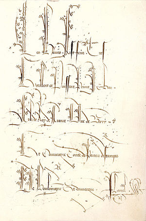 Belles Heures of Jean de France, Duc de Berry - Folio 1r with the elaborate ex libris inscription