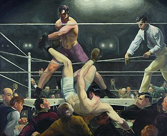 American Realism - George Bellows, Dempsey and Firpo (1924), Whitney Museum of American Art