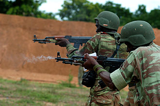 Benin Armed Forces - Beninese soldiers training with Type 56s.