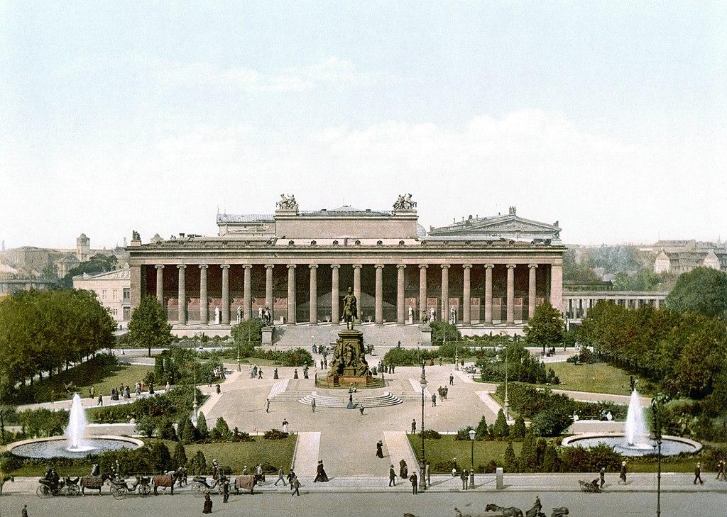 Altes museum, le premier musée d'Allemagne à Berlin en 1900.