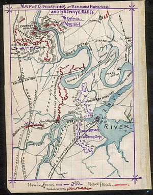 Port Walthall - Lee's Map of the Bermuda Hundred battle of Port Walthall