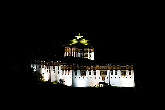Penlop - Paro Dzong at night
