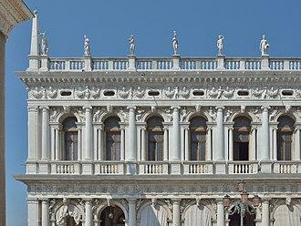 Biblioteca Marciana - Detail of the facade