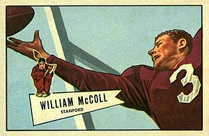 Bill McColl - McColl on a 1952 Bowman football card
