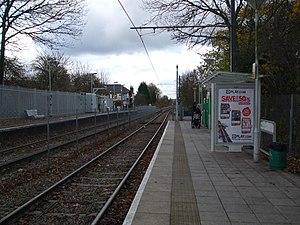 Birkbeck station - Image: Birkbeck stn Tramlink look east