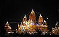 Birla Mandir, Delhi, views at night.JPG