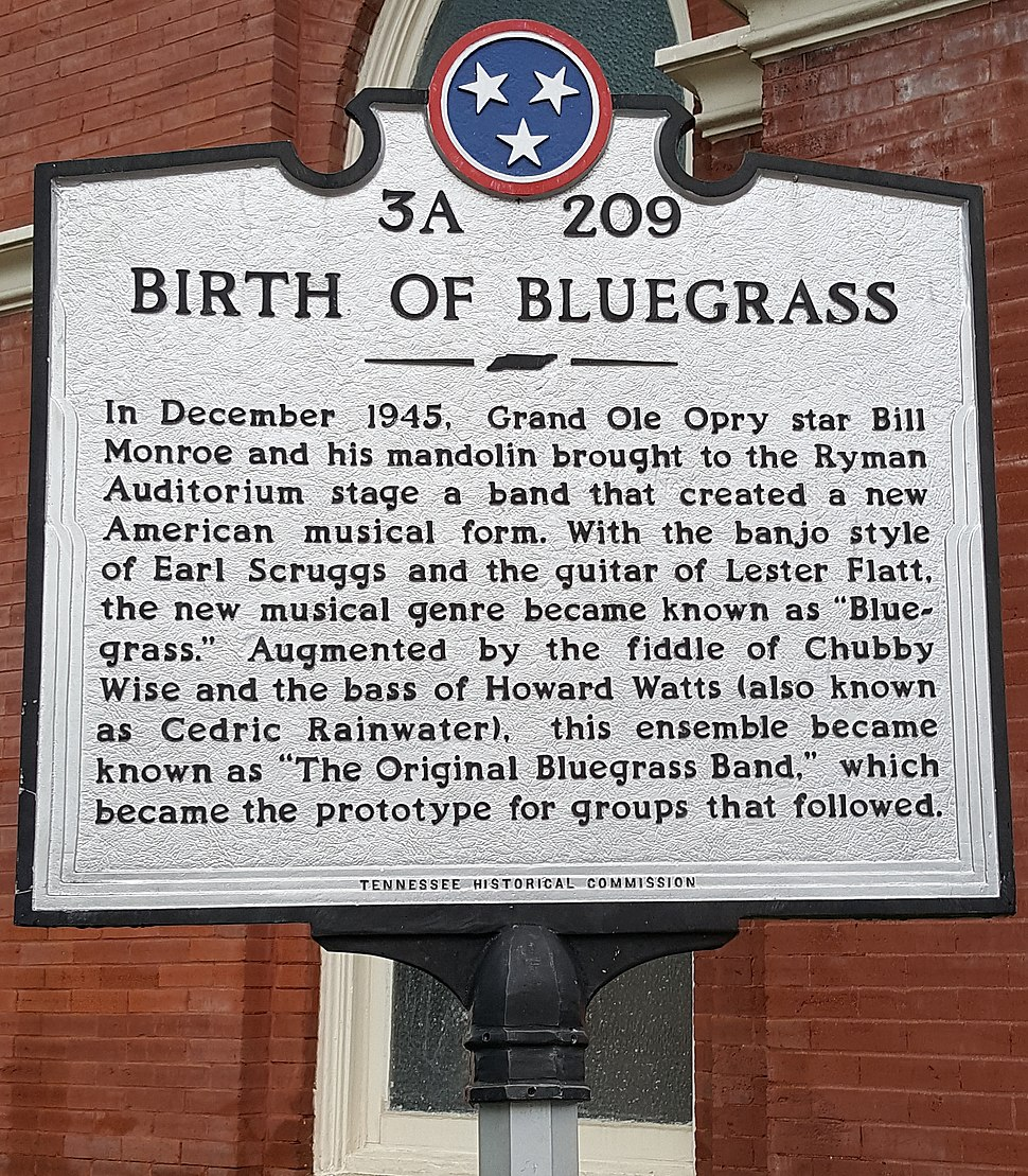 Birth of Bluegrass sign