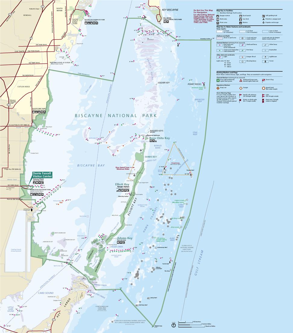Biscayne National Park Map 2009