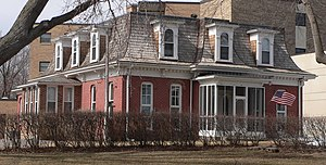 National Register of Historic Places listings in Yankton County, South Dakota - Image: Bishop Marty Rectory from SE
