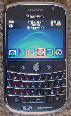 BlackBerry Bold 9000 connected to T-Mobile USA...