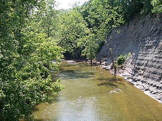 Black River (Ohio) - Shale cliffs along the Black River in the Lorain County Metroparks' Black River Reservation in Elyria