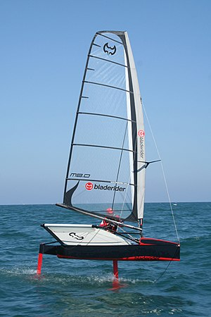 Sailing hydrofoil - Rohan Veal sailing a Bladerider