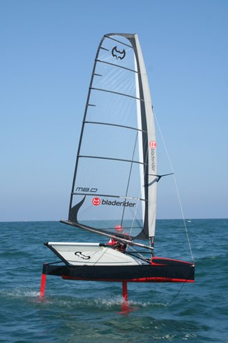 Sailing hydrofoil - Rohan Veal sailing a Bladerider