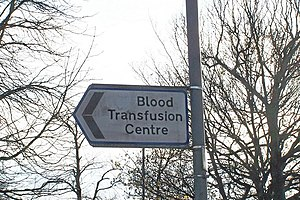 English: Blood Transfusion Service, Longley La...