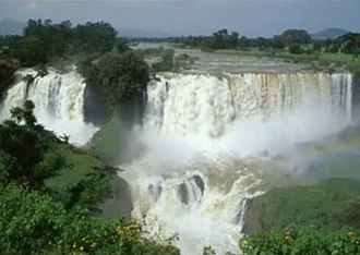 Bahir Dar - The Blue Nile Falls as they looked before a dam was constructed