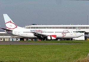bmibaby Boeing 737-300 (G-BYZJ) at Cardiff (Rh...