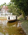 Boat used by Rabindranath Tagore at the pond of Shelaidaha Kuthibari , Kushtia.jpg