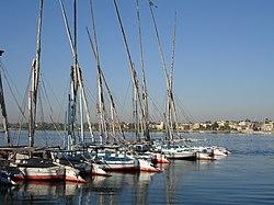 El Nilo a su paso por Luxor.