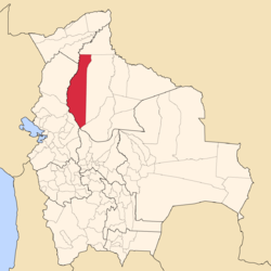 Location of José Ballivián in Bolivia