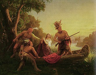 Cherokee–American wars - The Abduction of Daniel Boone's Daughter by the Indians by Charles Ferdinand Wimar (1853)