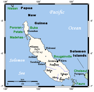 Bougainville Island main island of the Autonomous Region of Bougainville of Papua New Guinea