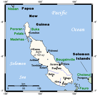 Bougainville Island - Bougainville and neighbouring islands