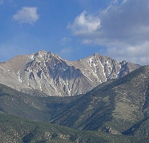 White Mountains (California) - Boundary and Montgomery Peaks at the north end of the range