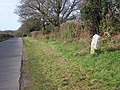 Boundary stone near Lytchett Matravers - geograph.org.uk - 1692279.jpg