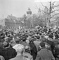 Bouwvakarbeiders demonstreren tegen ontslag van 17 arbeiders Op het Museumplein, Bestanddeelnr 916-2836.jpg