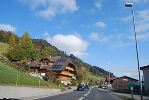 Bowil - Bowil village and surrounding hills
