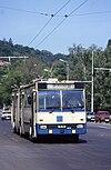 Braşov 1994 DAC- ROCAR trolleybus route 31.jpg