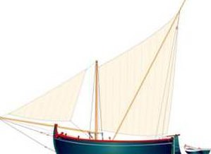 Bracera - A single masted sprit sail bracera