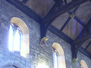 Bradford Cathedral - The clerestory
