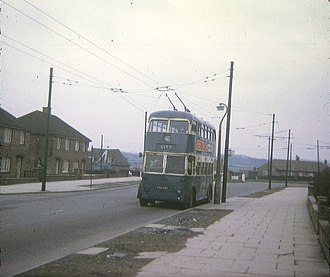 Buttershaw - the Bradford trolleybus terminus in Buttershaw.