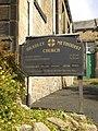 Bradley Methodist Church, Low Bradley, Sign - geograph.org.uk - 1656113.jpg