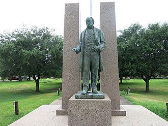 Brazoria, Texas - Henry Smith statue is in front of the Civic Center.