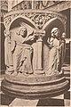 Brechten Johann Baptistkirche Innenansicht mit romanischen Taufstein (andere Seite) um 1890.jpg
