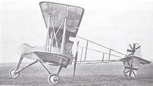 Breguet Bre.4 - A Breguet BUC/BLC de Chasse operating with No. 5 Wing, Royal Naval Air Service, in Belgium sometime between April and June 1916