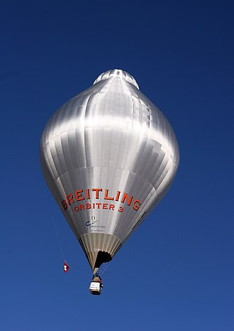 Balloon (aeronautics) - In 1999, Bertrand Piccard and Brian Jones achieved the first non-stop balloon circumnavigation in Breitling Orbiter 3.