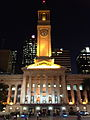Brisbane City Hall at night 07.2014.JPG