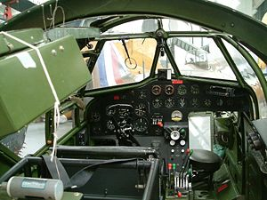 Tragedy at Kufra - The cockpit of a Bristol Blenheim Mark IV on display at the Imperial War Museum Duxford in August 2005.