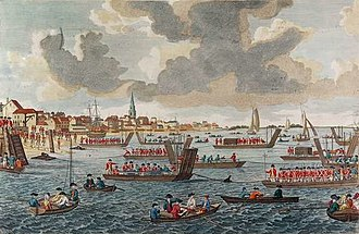 HMS Pearl (1762) - Troops escorted by Pearl, land at Kip's Bay in September 1776